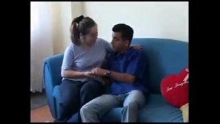 Horny white girl having hot sex with a hindu boy
